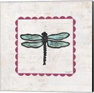 Dragonfly Stamp Bright Fine-Art Print