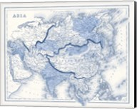 Asia in Shades of Blue Fine-Art Print