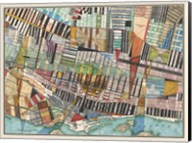 Modern Map of Montreal Fine-Art Print