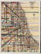 Modern Map of Chicago Fine-Art Print