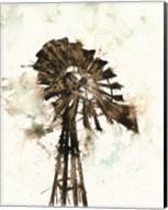 Watercolor Windmill Fine-Art Print