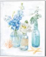 Beach Cottage Florals II Fine-Art Print