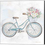 Vintage Bike With Flower Basket I Fine-Art Print