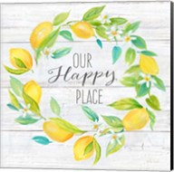 Our Happy Place Lemon Wreath Fine-Art Print