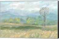 Country Meadow Windmill Landscape Fine-Art Print