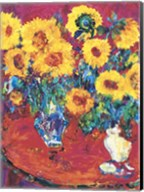 Red Table with Sunflowers Fine-Art Print
