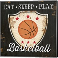 Eat, Sleep, Play, Basketball Fine-Art Print