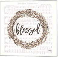 Blessed Assurance Bless Wreath Fine-Art Print