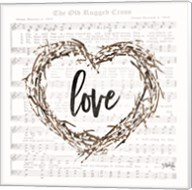 Old Rugged Heart Love Wreath Fine-Art Print