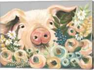 Pig in the Flower Garden Fine-Art Print