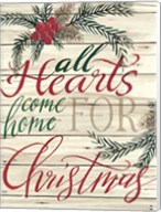 All Hearts Come Home for Christmas Shiplap Fine-Art Print