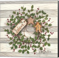 Believe Wreath Fine-Art Print