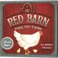 Red Barn Poultry Farm Fine-Art Print