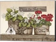 Cherish the Small Things Geraniums Fine-Art Print