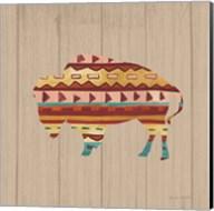 Southwestern Vibes II on Walnut Fine-Art Print