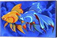 Blue And Orange Fish Fine-Art Print