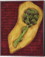 Veggies On Red L Artichaut Fine-Art Print