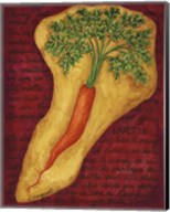 Veggies On Red L Carotte Fine-Art Print
