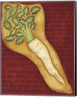 Veggies On Red L Daikon Fine-Art Print