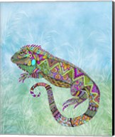 Electric Iguana Fine-Art Print