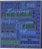 Fishing Type Throw Fine-Art Print