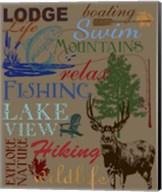 Lodge Type Throw Fine-Art Print