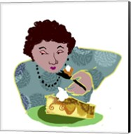 Lady With Cheesecake Fine-Art Print