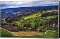 Aerial View of the Hills Near Zurich Fine-Art Print