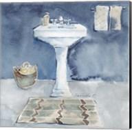 Watercolor Bathroom II Fine-Art Print
