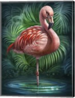 Flamingo Totem Fine-Art Print