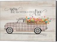 Be Happy Vintage Truck Fine-Art Print
