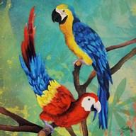 Tropical Birds in Love II Fine-Art Print