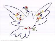 Dove with Flowers Fine-Art Print