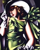 Jeune Fille Vert Fine-Art Print