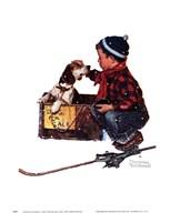 A Boy Meets His Dog Fine-Art Print