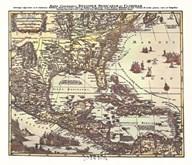 Map of South Eastern America Fine-Art Print