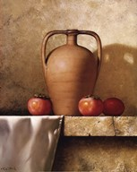 Olive Oil Jug with Persimmons Fine-Art Print