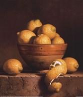 Lemons in a Bowl with Peel Fine-Art Print