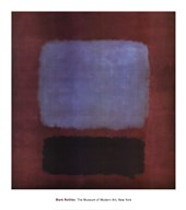 No. 37/No. 19 (Slate Blue and Brown on Plum), 1958 Fine-Art Print