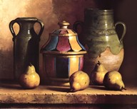 Moroccan Pottery with Pears Fine-Art Print