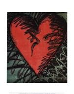 Rancho Woodcut Heart Fine-Art Print