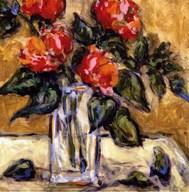 Vase Of Red Peonies Fine-Art Print