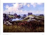 Houses Around The Bay Fine-Art Print