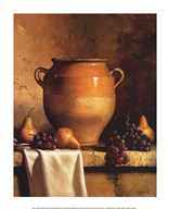 Confit Jar with Pears and Grapes Fine-Art Print