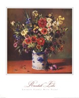 Chinese Florals with Plums Fine-Art Print