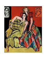 Two Young Women, the Yellow Dress and the Scottish Dress, 1941 Fine-Art Print
