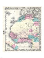 1855 Colton Map of Western Africa Fine-Art Print