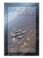 Dare to Soar Affirmation Poster, USAF Fine-Art Print