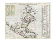 1720 Chatelain Map of North America Fine-Art Print