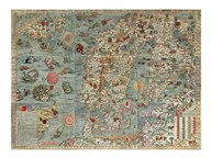 Carta Marina, Map of Scandinavia Fine-Art Print